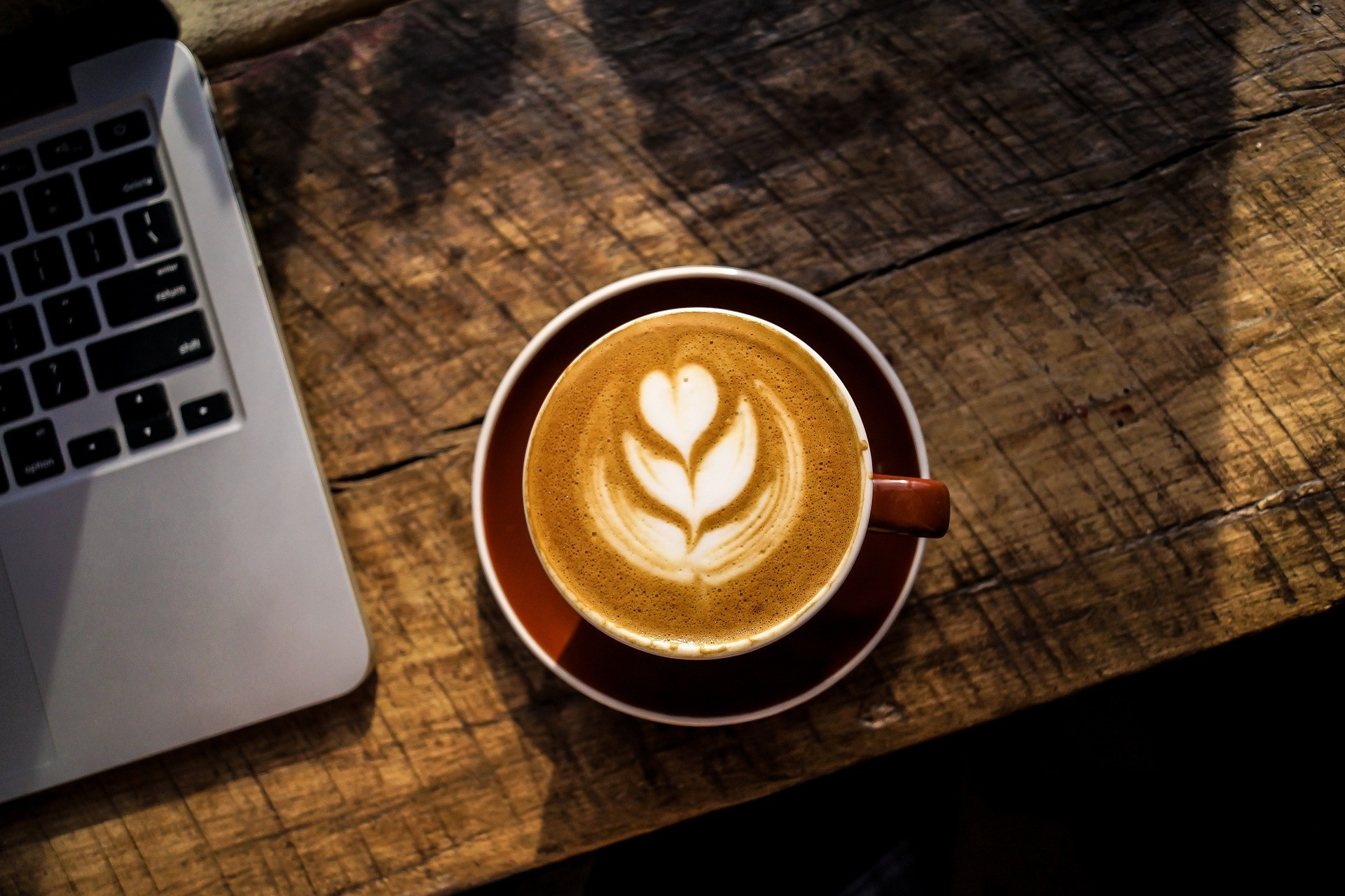 latte art and computer